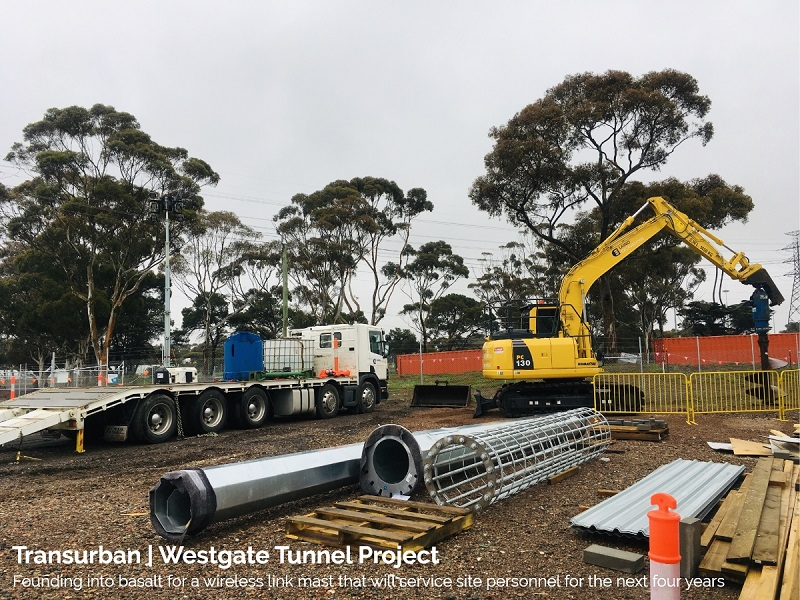 Westgate-2 - laino excavations - melbourne - victoria - rock drilling - bored piers - mobile crushing